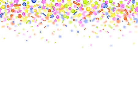 Sweet confetti seamless pattern Imagens - 126170749