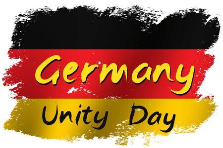 Grunge brush stroke with Germany national flag. Germany National Day background. Decorative design elements for Germany national holidays. Symbol of Germany.  Vector illustration