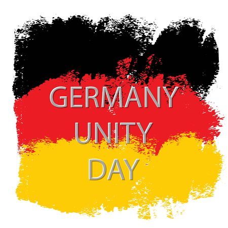 Grunge brush stroke with Germany national flag. Germany National Day background. Decorative design elements for Germany national holidays. Symbol of Germany.  Vector illustration Imagens - 130781411