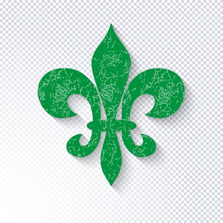 Mardi Gras carnival pattern with heraldic lily fleur-de-lis on a transparent background. Vector backdrop for greeting cards, festive invitations, posters, prints, banners