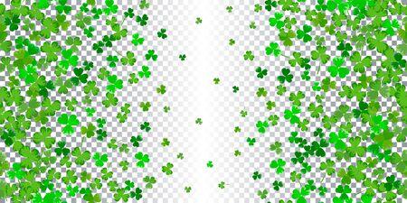 St.Patricks day horizontal seamless background