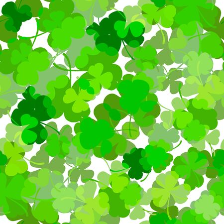 St. Patrick s day vector seamless background