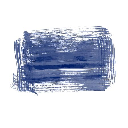 Hand drawn design element of blue. Grunge ink pen - vector Brush Stroke. Distressed quill. Black Modern Textured pen Stroke.  Dirty artistic design element, box, frame or background for text. Vector