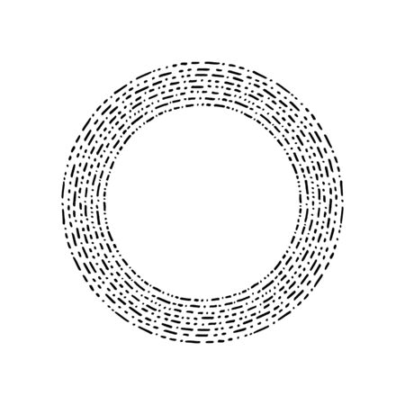 Round Frames. Hand drawn grunge textured. Black and white frame isolated on white background. Perfect for your design, cards, invitations, website, poster or else