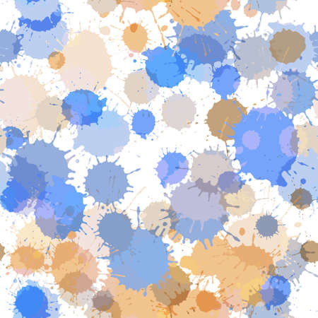 Seamless background of ink color stains Illusztráció