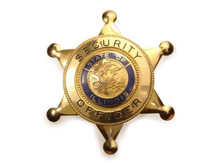 sheriff badge: Sheriff `s placa sobre fondo blanco