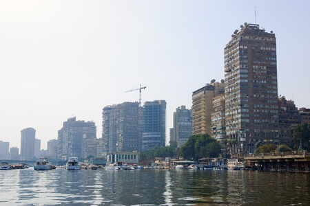 View of Cairo  Egypt  from Nile river Stock Photo