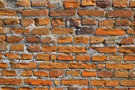 weather beaten: Old Brick parete di fondo