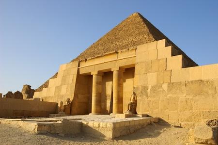 Toegang tot Mastaba van Sechemnefer IV in de buurt piramide van Cheops Stockfoto