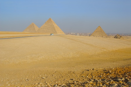 View of Egyptian pyramids