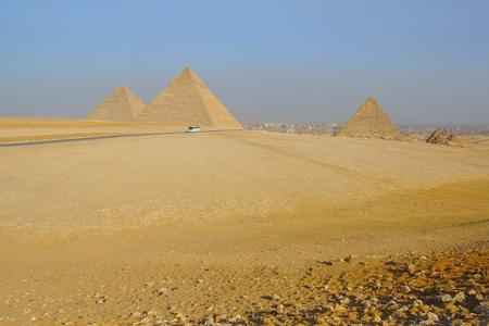 View of Egyptian pyramids