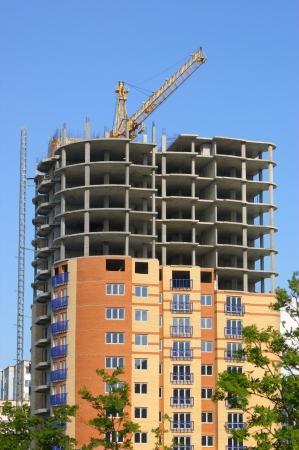 Bouw van een nieuw gebouw Stockfoto