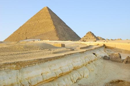 Geological layers near Giza pyramids Stock Photo
