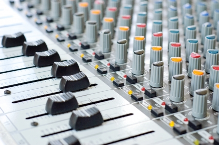 Music control panel device Stock Photo