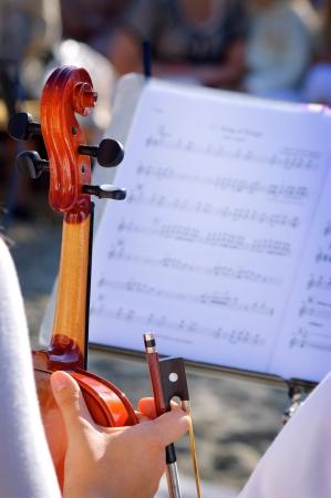 Viool en bladmuziek
