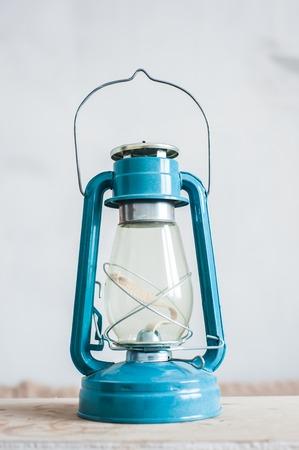 old vintage oil blue lamp, lamp - bat. Comfort concept