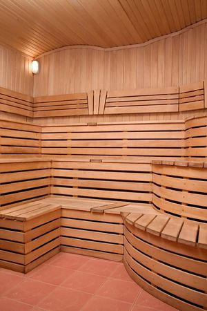 Interrier of sauna