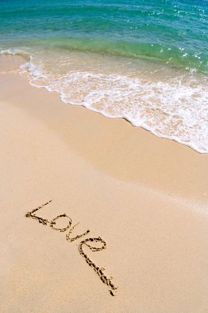 adore: Love on the sand Stock Photo