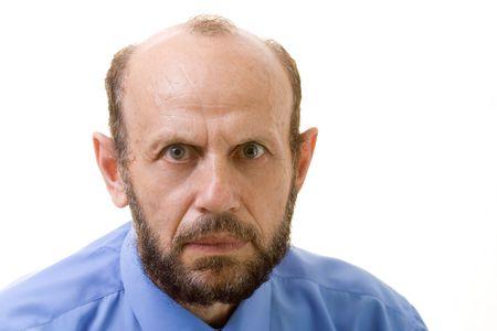 Senior man staring at you