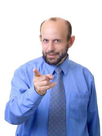 Senior man makes you ashamed(focused on face) photo