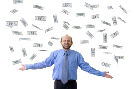 Wealthy man with lot's of hundreds usd Stock Photo - 466783