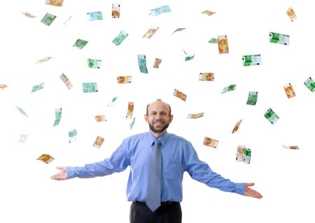 Wealthy man with lot's of euro photo