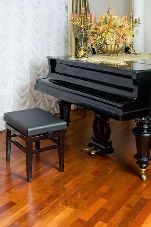 Grandpiano in the living room photo
