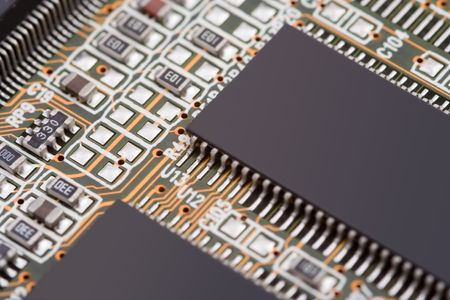mainboard: Micro chips on a mainboard