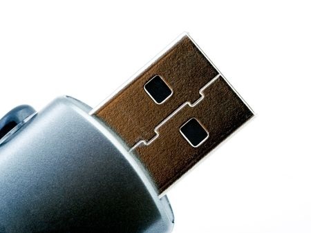 megabytes: A macro of a usb flash memory Stock Photo