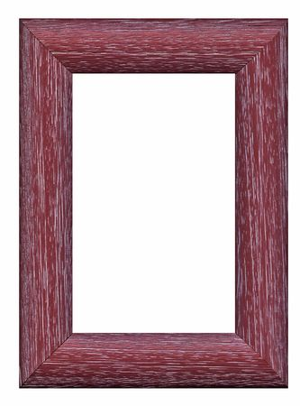 An empty wooden frame, isolated on white Stock Photo - 601453