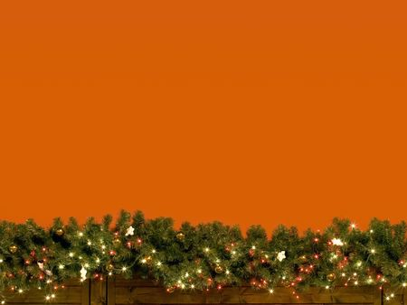 A decorated red wall on christmas holiday