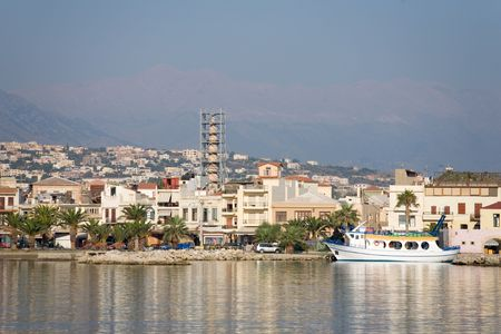rethymno: A photo of a port in Rethymno, Crete Stock Photo
