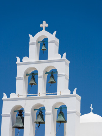 A photo of bells in town Oia, Santorini photo