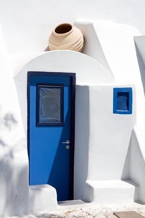 santorini greece: A photo of typical architecture in Santorini, Greece Stock Photo