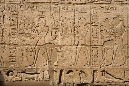 louxor: Une photo de l'ancienne �criture �gyptienne � Louxor  Banque d'images