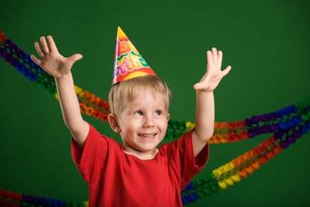 A photo of a boy on a birthday party photo
