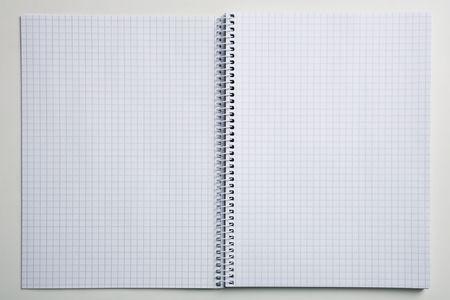 empty spiral notebook photo