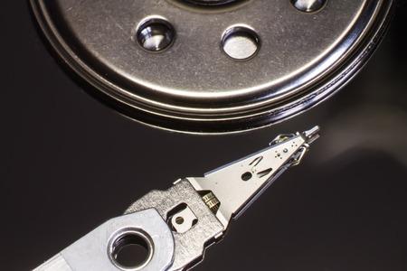 hdd: hard disk drive read head hdd Stock Photo