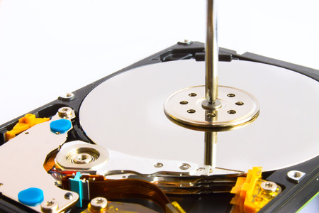 2 5: hdd 2,5 repair screwdriver and screws on a white background Stock Photo