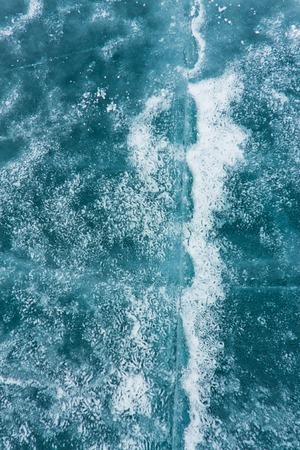 cracks in ice: The pattern of cracks on blue ice of Lake Baikal
