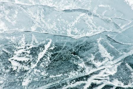 baical: The pattern of cracks on blue ice of Lake Baikal