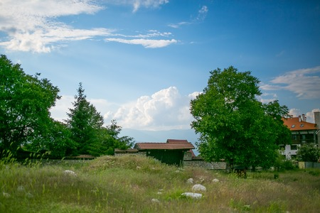 One of the views of Bansko, Bulgaria in summer time photo