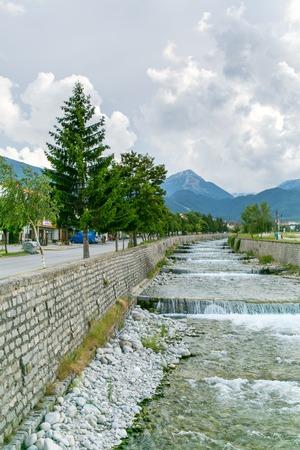 River Glazne in Bansko, Bulgaria in summer time photo