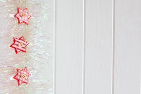xmas background: Christmas background with  Xmas decoration Stock Photo