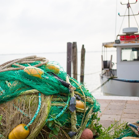 buoys: fishing net Stock Photo