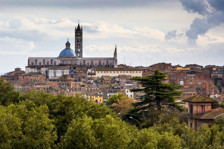 siena italy: Panorama of Siena, Italy Stock Photo