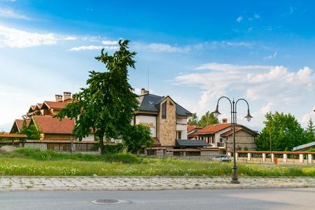 BANSKO, BULGARIA - June 2014: Town view in summer time, Bansko, Bulgaria, 15 June 2014