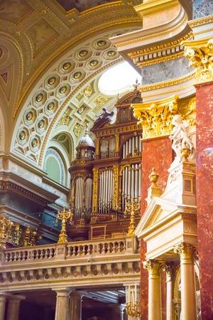 Budapest, Hungary on november, 7, 2014: Interior of Szent Istvan basilica in Budapest, Hungary