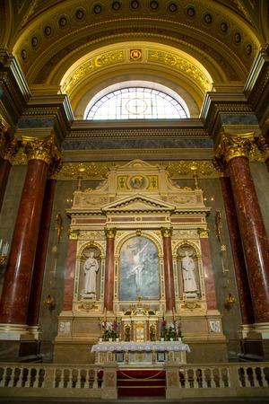 saint stephen cathedral: Budapest, Hungary on november, 7, 2014: Interior of Szent Istvan basilica in Budapest, Hungary