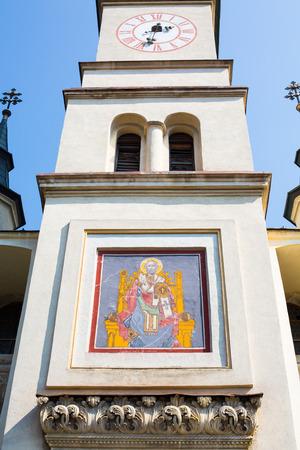 'saint nicholas': Facade of Saint Nicholas Church in Brasov, Transilvania